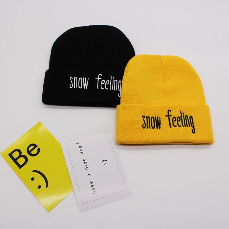 潮至毛线针织帽情侣款年新款冬装韩版韩国ulzzng小字母针织帽刺绣帽子