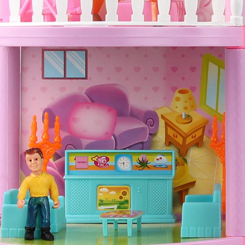 別墅房子積木益智拼搭兒童玩具 自建別墅芭比娃娃屋公主城堡