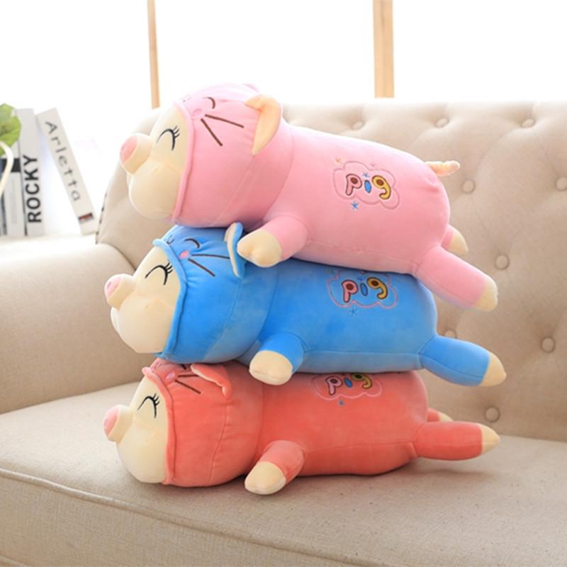 猪公仔软体猪可爱睡觉抱枕长小猪猪大布偶娃娃猪猪侠玩具毛绒女孩