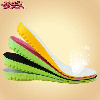 狄夫人 內增高鞋墊柔軟全墊透氣吸汗蜂巢減震緩壓男女式隱形跑步運動鞋墊