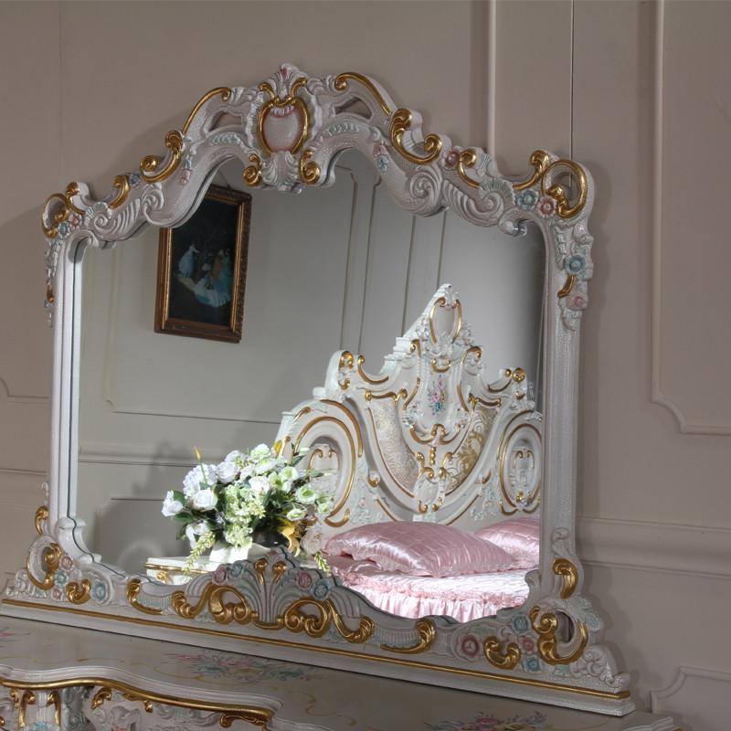 fp家居 欧式宫廷法式浪漫古典家具手工实木雕刻梳妆台