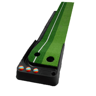3M有球道室內高爾夫推桿練習器 高爾夫推桿練習器 高爾夫塑膠底座仿真草練習套裝