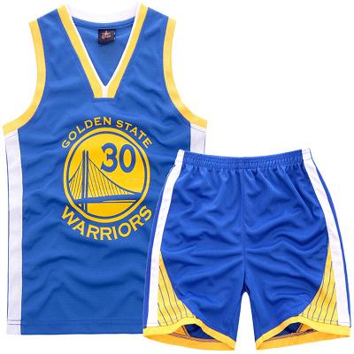 儿童篮球服套装 科比乔丹库里詹姆斯夏季背心短裤球衣