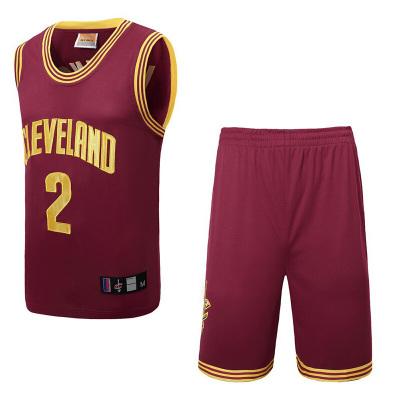歐文籃球服套裝男籃球衣騎士隊2號歐文比賽訓練隊服運動服歐文2號無袖背心短褲籃球服