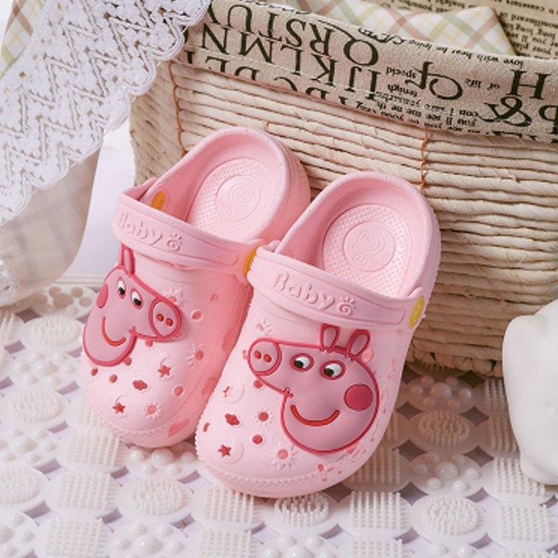 1-3-5岁男女宝宝中小童软底婴幼儿卡通凉拖可爱小动物包头平跟拖鞋子
