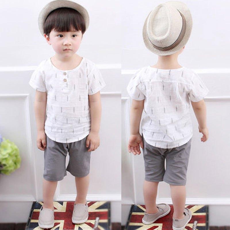 男童女宝宝婴儿童衣服两件套1-5岁夏季潮可爱卡通小孩子上衣五分裤