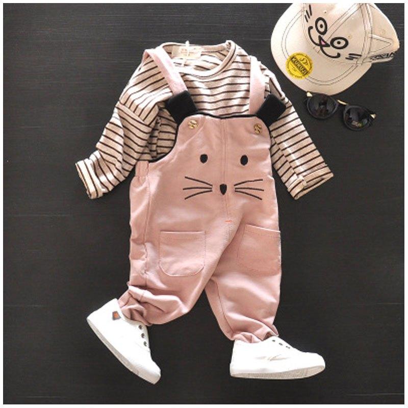 长袖男童婴幼儿外出服背带裤两件套可爱简约休闲小清新小孩子衣服春夏