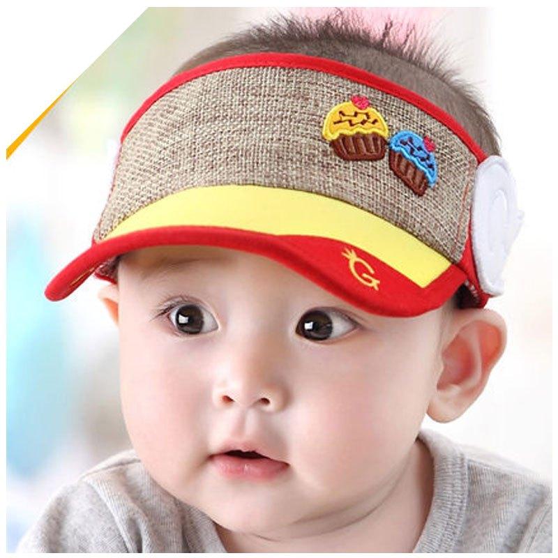 帽鸭舌帽婴儿空顶帽男2017新品夏季可爱简约帽子小男孩子短檐空顶帽子