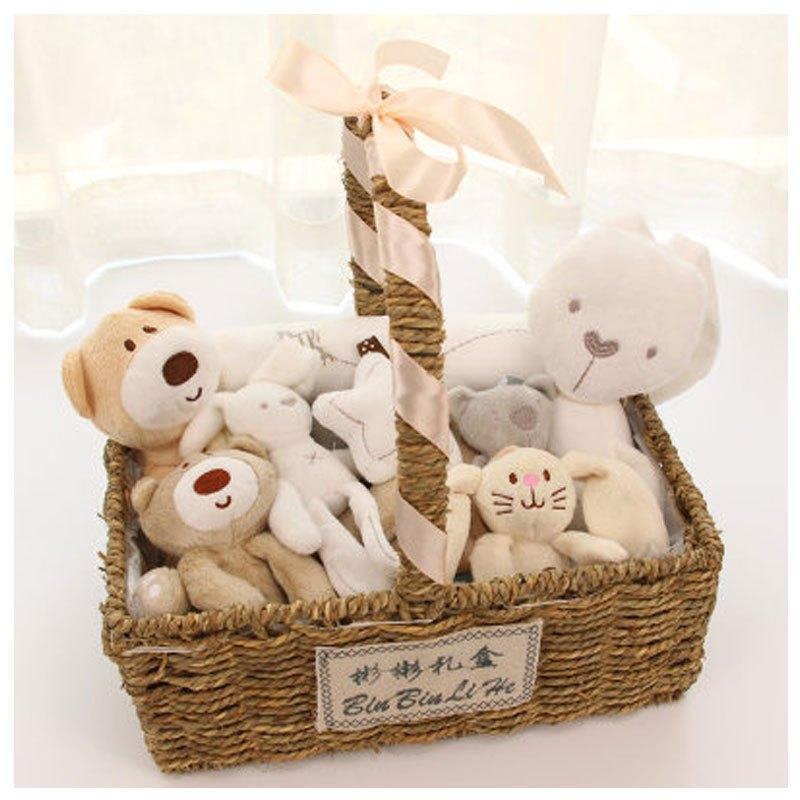 小女孩子礼盒玩具可爱卡通小兔子当季新品简约婴儿玩具礼盒 初生新生