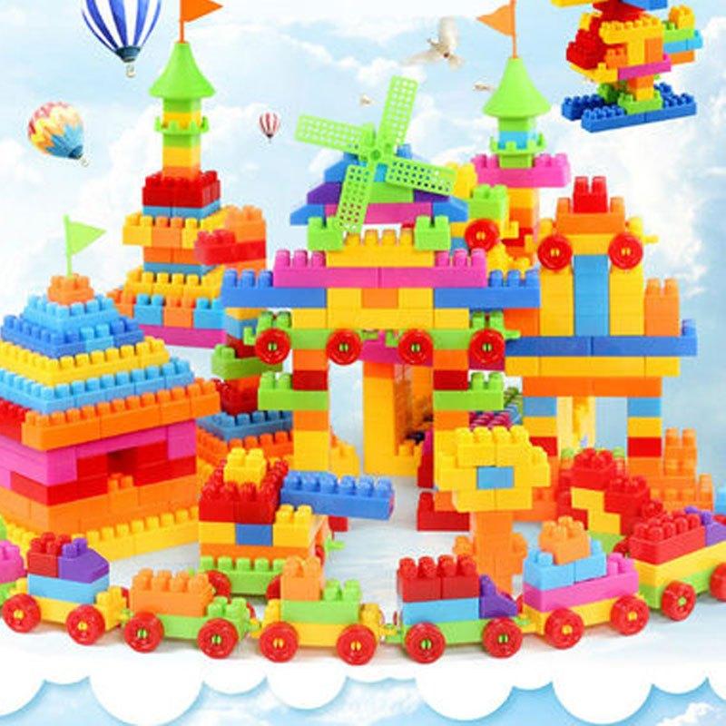 塑料拼插积木宝宝益智拼装1-2男孩女孩小孩玩具3-6周岁-风车城堡】 11