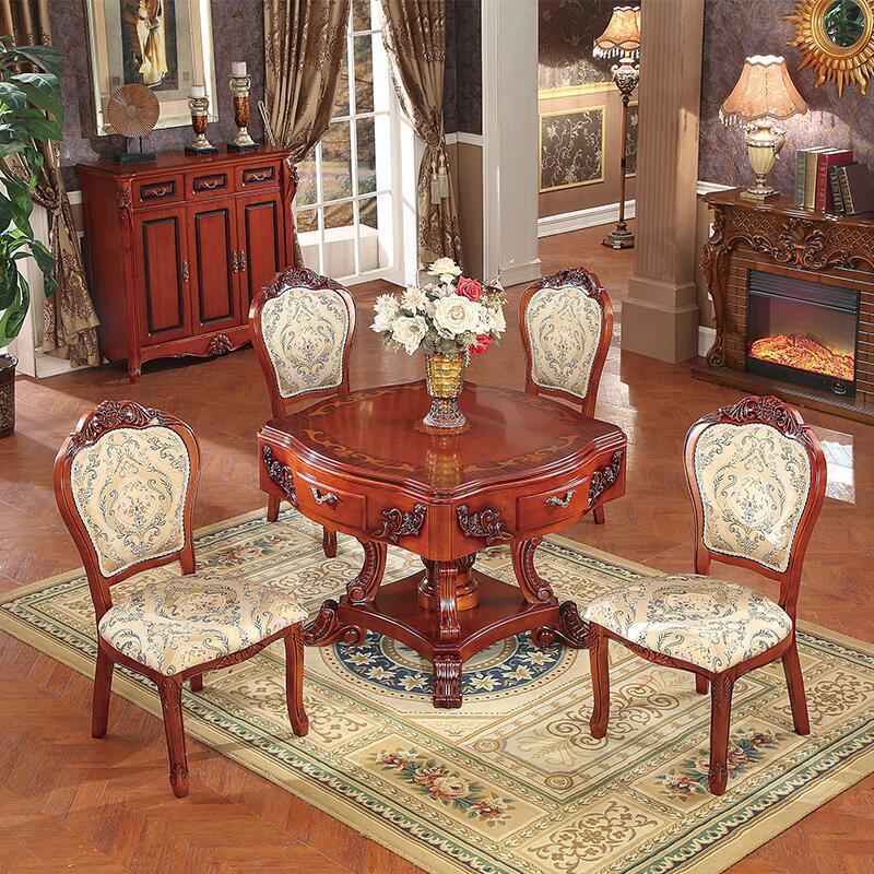 爵仕麻将机 全自动静音餐桌两用电动麻将桌 家用欧式四口麻将机 实木