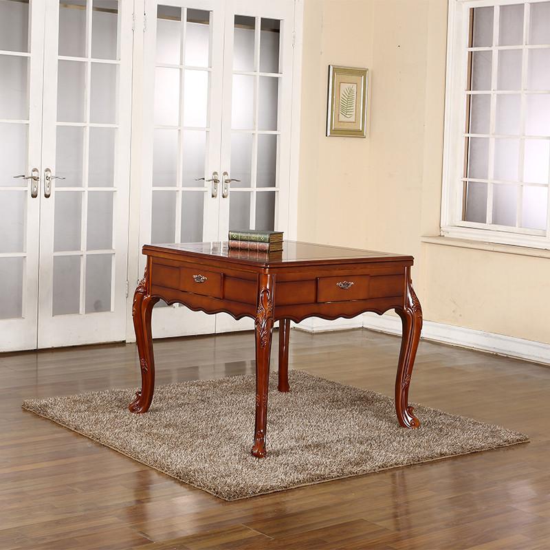 全自动静音餐桌两用电动麻将桌 家用欧式四口麻将机 实木欧式西餐桌