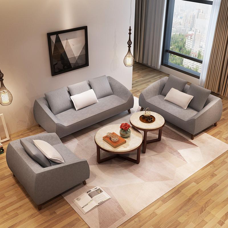 马氏皇庭北欧小户型单人双人三人布艺沙发可拆洗客厅现代简约沙发图片