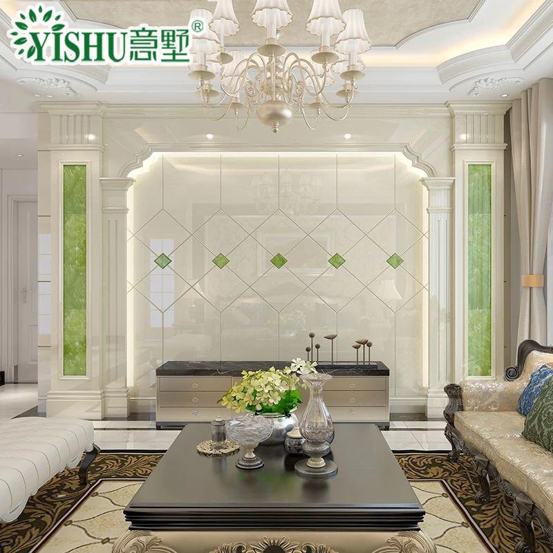 墙欧式人造石材罗马柱护墙板组合客厅玉石背景墙石材影视墙壁画背景墙