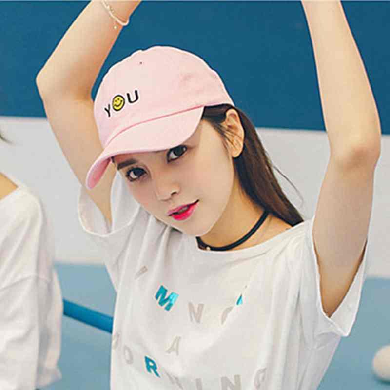 原宿粉色帽子韩国时尚青年棒球帽情侣鸭舌帽女生夏天韩版遮阳帽潮