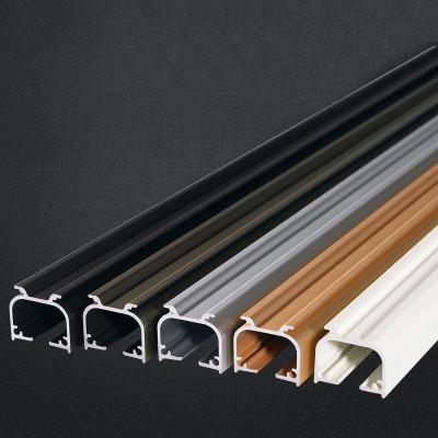 幸福派 窗簾軌道 鋁合金窗簾桿 單軌雙軌直軌 支架 配件 滑道單桿雙桿環頭桿子送配件簡約現代穿桿式其他