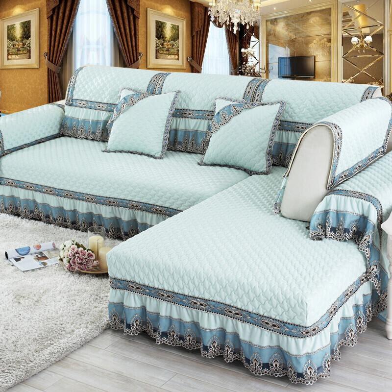 幸福派 欧式沙发垫坐垫套装四季沙发罩套子防滑可定制