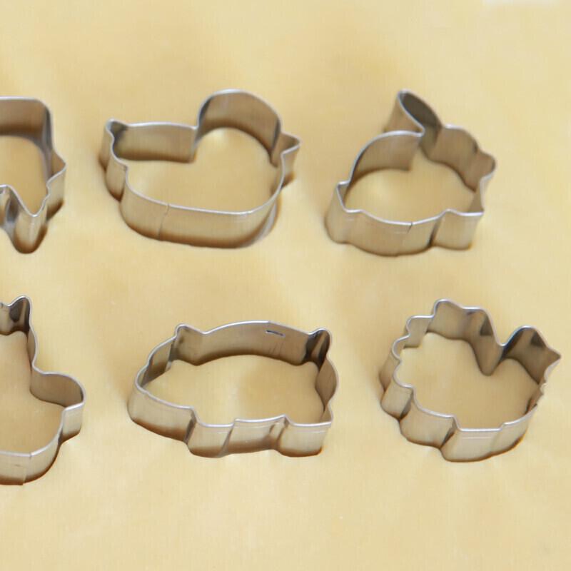 纳丽雅 不锈钢diy做饼干模具烘焙套装动物卡通 标配