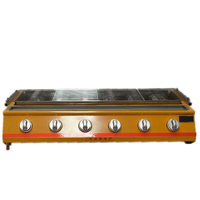 烤面筋燃气烤炉商用烧烤炉烤面筋串炉子煤气烧烤炉烤生蚝炉