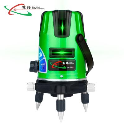 赛纬(SAIWEI)激光水平仪 红外线室外绿光 2线2点 自动安平配锂电池可充电