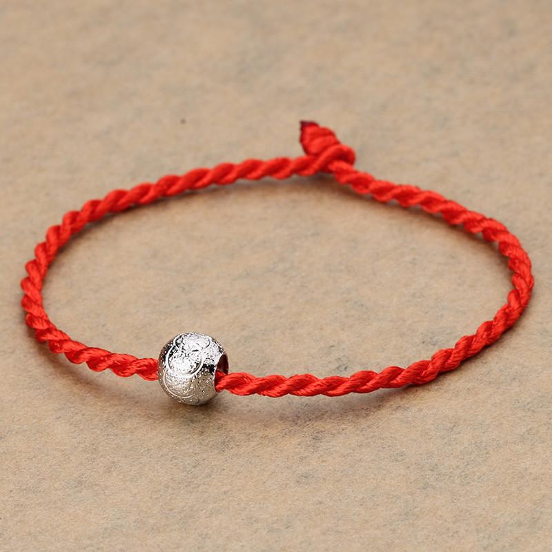 红绳_彩丽馆 925银手链 幸运红绳 转运珠手链 韩版 时尚 生日礼物 红绳转运