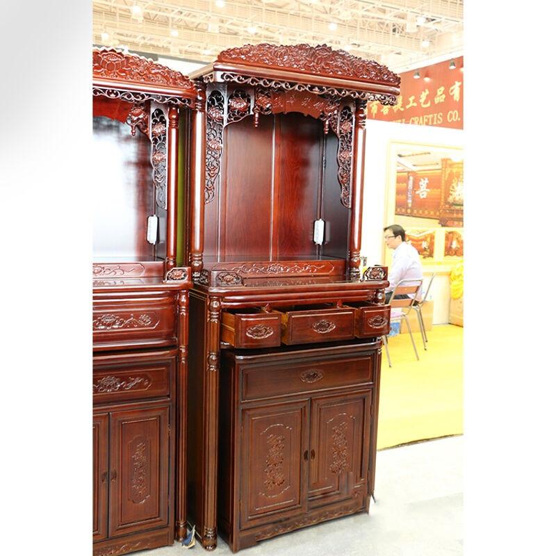 彩丽馆礼品之家 佛堂用品 实木佛龛立柜带门 神台供佛