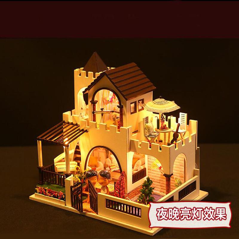 彩丽馆diy小屋梦想城堡手工制作房子模型送男女孩闺蜜