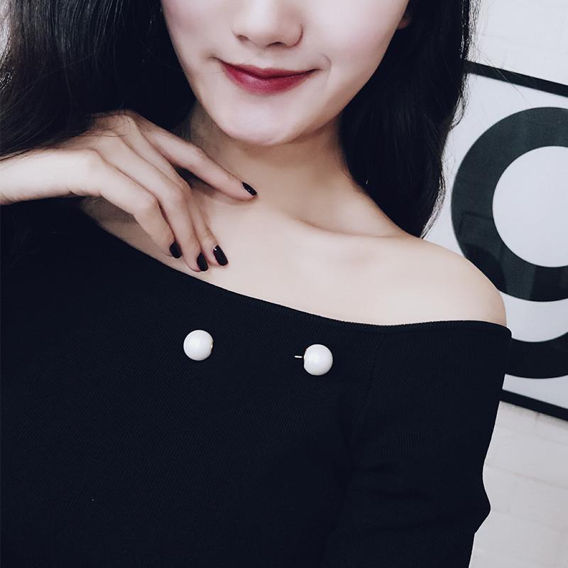 彩丽馆韩国气质优雅双珍珠衣服胸针饰品别针日韩时尚百搭女衣服装饰