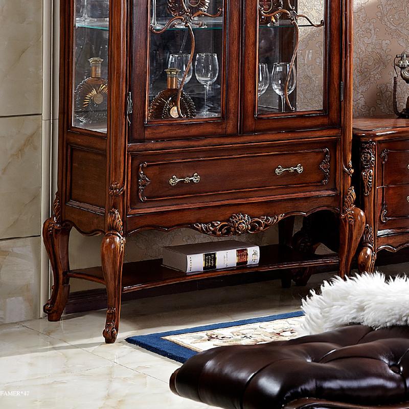 千住明欧式电视柜 酒柜组合实木雕花美式客厅电视墙柜