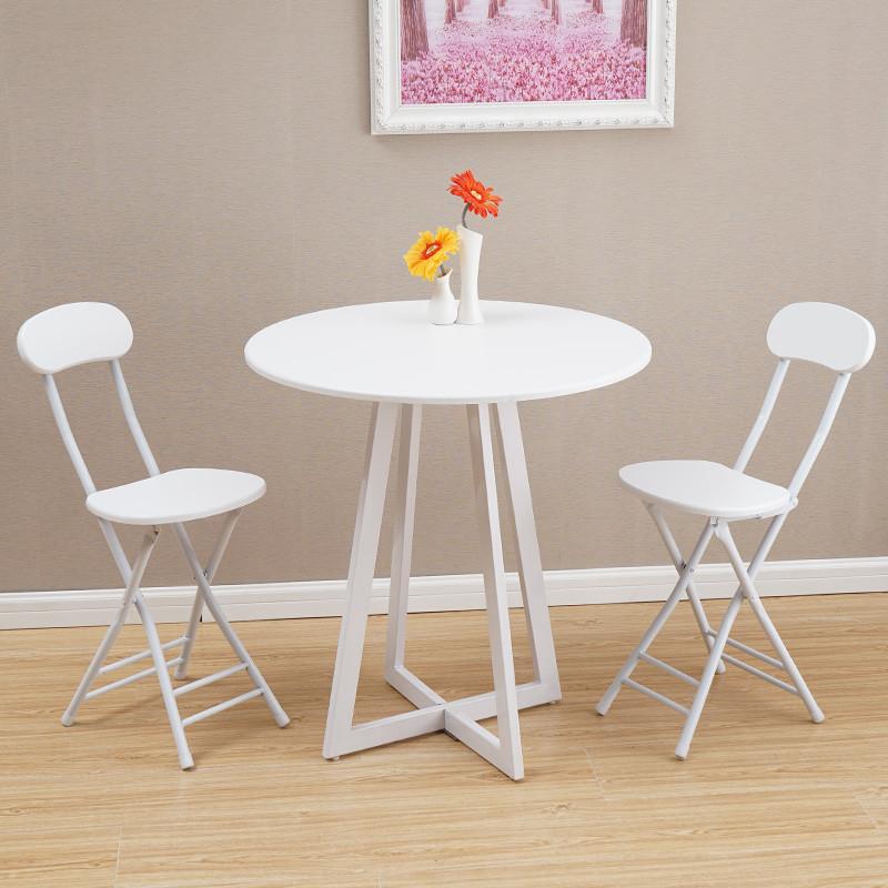 明洽谈桌圆桌餐桌椅组合现代简约饭桌欧式北欧小户型奶茶店吃饭桌子