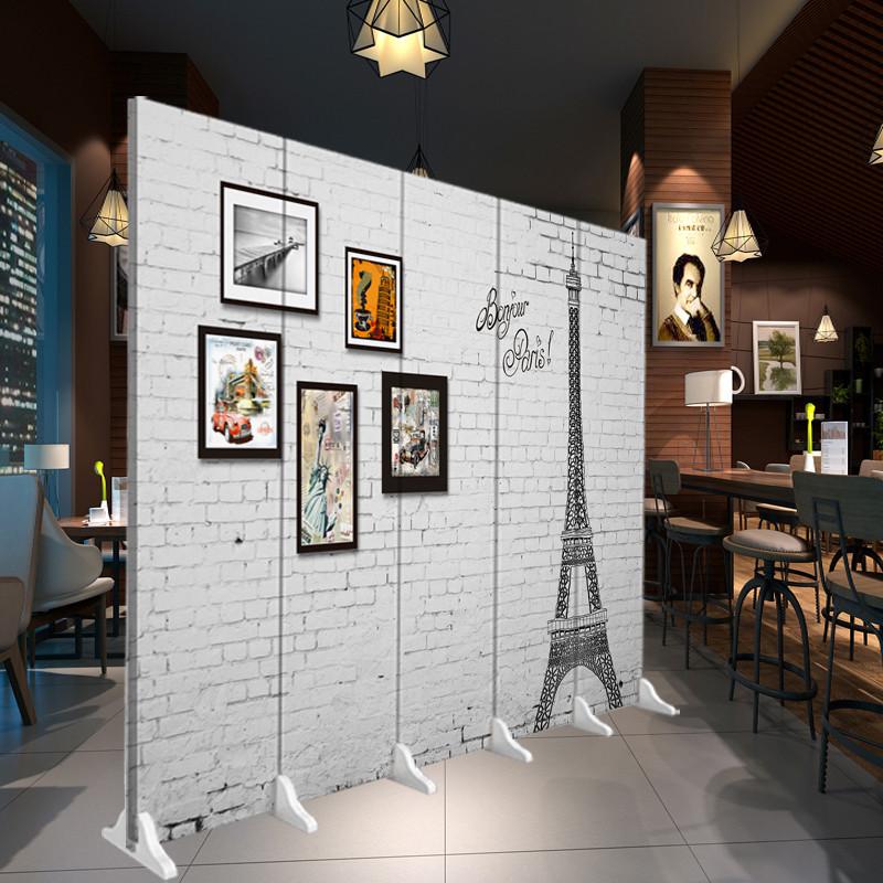 千住明屏风隔断时尚客厅卧室酒店办公室咖啡厅酒吧移动欧式风折屏背景