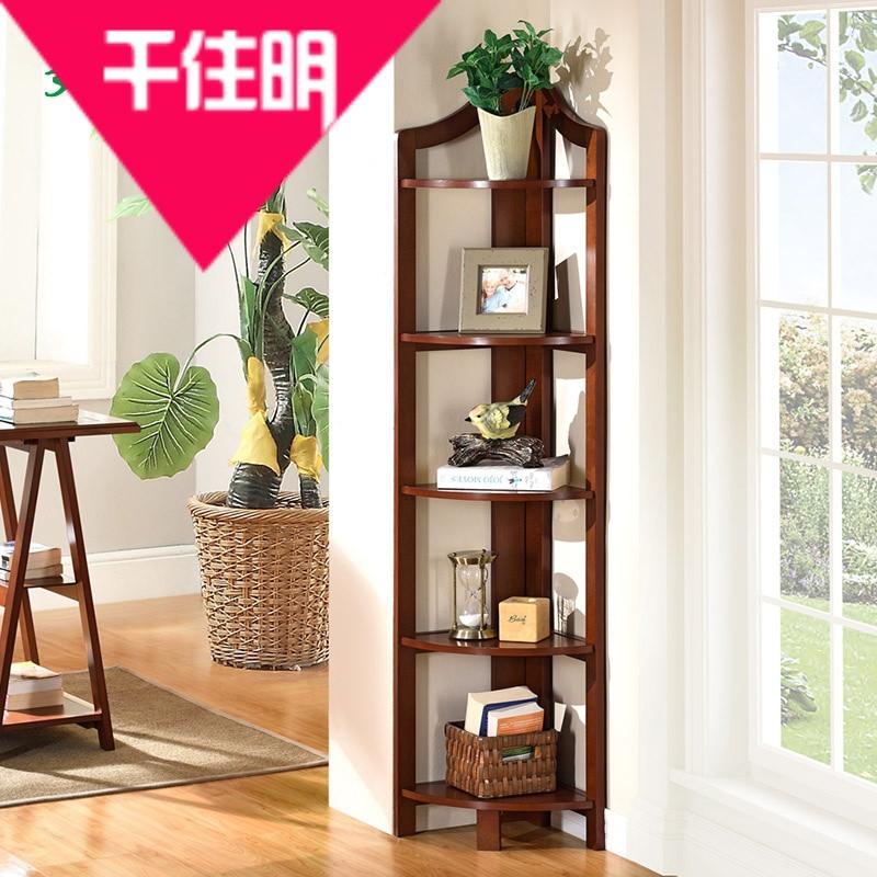 千住明好战友美式欧式中式韩式扇形花架客厅卧室书转角置物架
