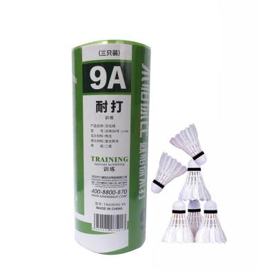 川崎/kawasaki 羽毛球鴨毛球3只裝耐打羽毛球業余訓練羽毛球 9A球鴨毛