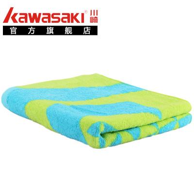 川崎(kawasaki) 羽毛球运动毛巾纯棉加厚加长健身跑步吸汗速干防臭