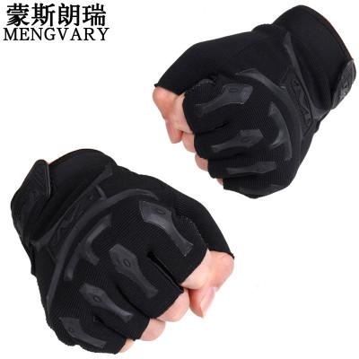 蒙斯朗瑞战术手套男 户外运动开车防滑骑车手套器械健身格斗训练半指手套山地车骑行手套