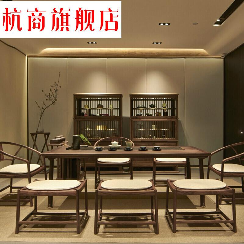 新中式茶桌椅组合实木家具茶楼办公室茶室禅意功夫茶茶台工厂定制
