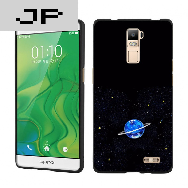 jp潮流品牌 太空蓝色星球 oppor7s手机壳 r7plus简约个性潮流硅胶保护