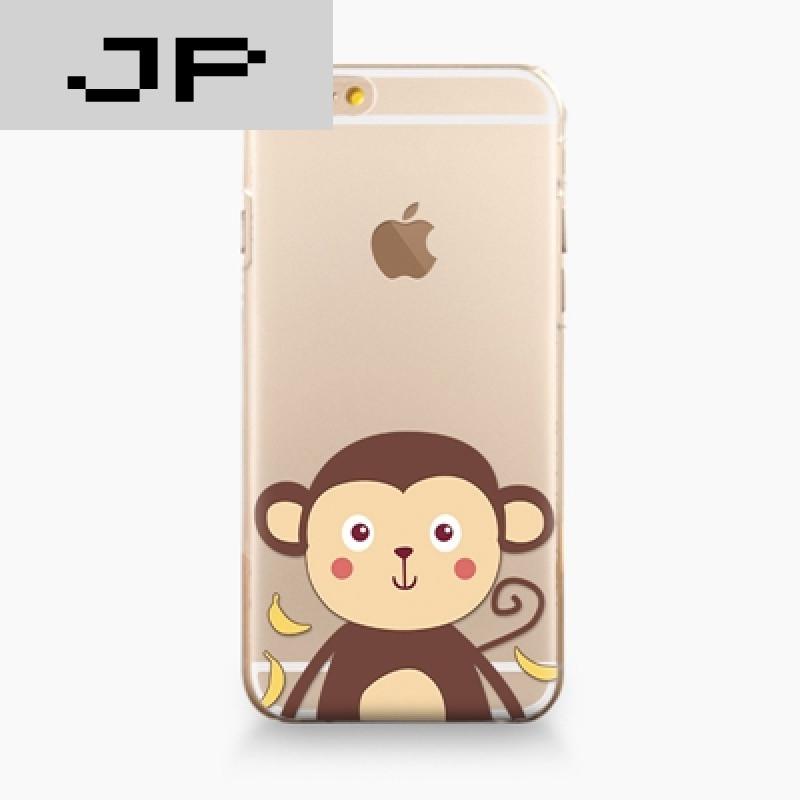 jp潮流品牌苹果iphone6s/6plus手机壳硅胶软壳新款情侣透明可爱猴子