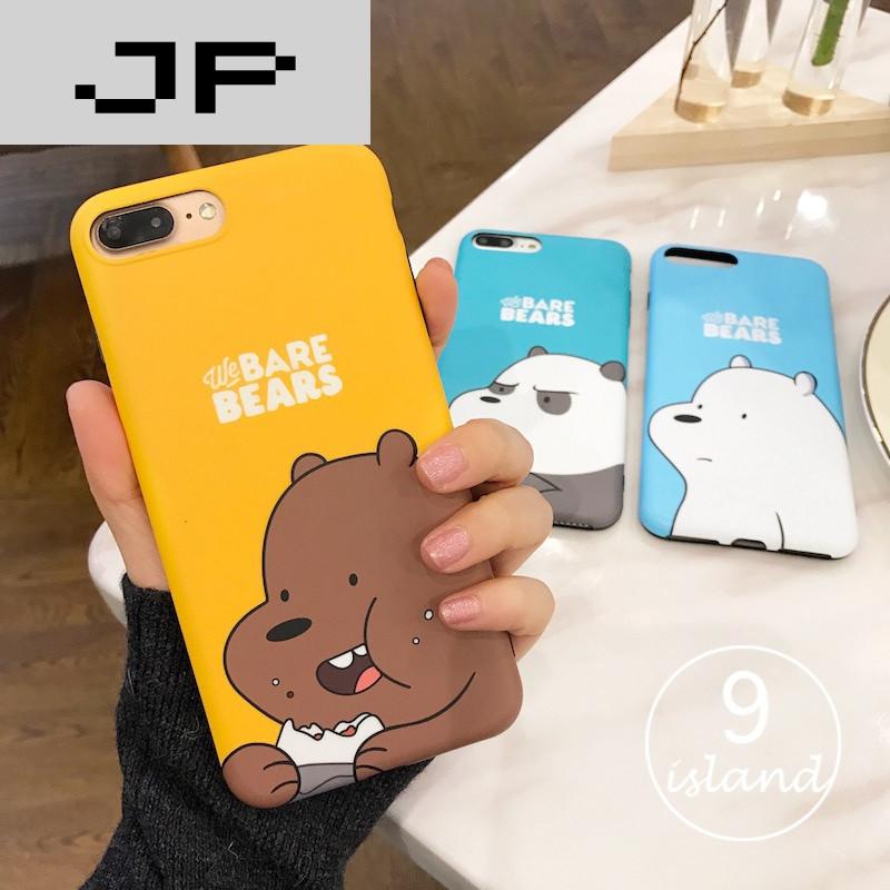 品牌韩国卡通情侣iphone6plus手机壳咱们裸熊苹果7plus硅胶软壳6s可爱