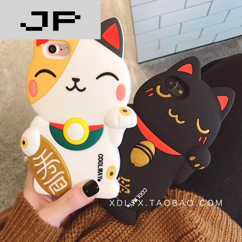 jp潮流品牌立体招财猫iphone7手机壳苹果6s/6plus可爱