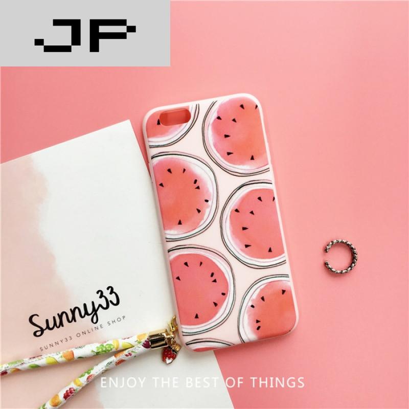 jp潮流品牌夏日水果草莓西瓜iphone6手机壳苹果6plus女款可爱6s硅胶