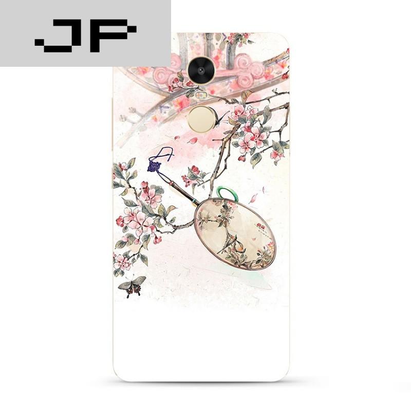 jp潮流品牌唯美中国风手绘风景红米note4x 3 4a手机壳