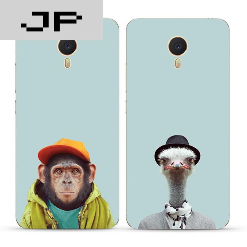 品牌个性创意简约搞怪动物魅族魅蓝3s note5 3 2 metal手机壳全包软壳