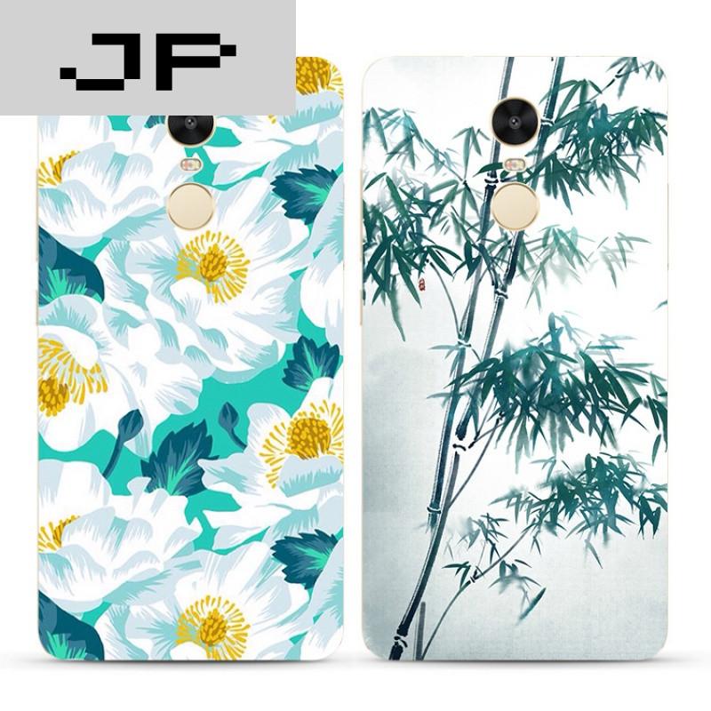 jp潮流品牌创意唯美中国风红米3s note4x 3 4a pro手机壳手绘竹子软壳
