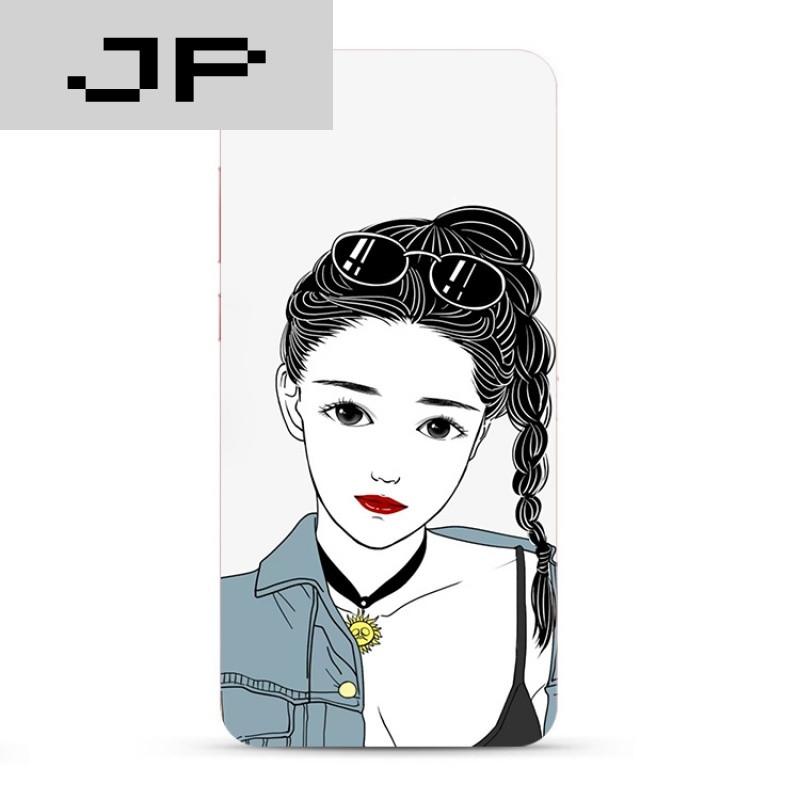 jp潮流品牌个性手绘潮流女孩vivox7 x9 plus手机壳x6sad硅胶全包软壳