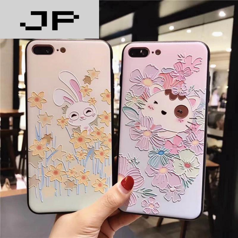 jp潮流品牌花丛动物iphone6splus苹果7plus手机壳软壳