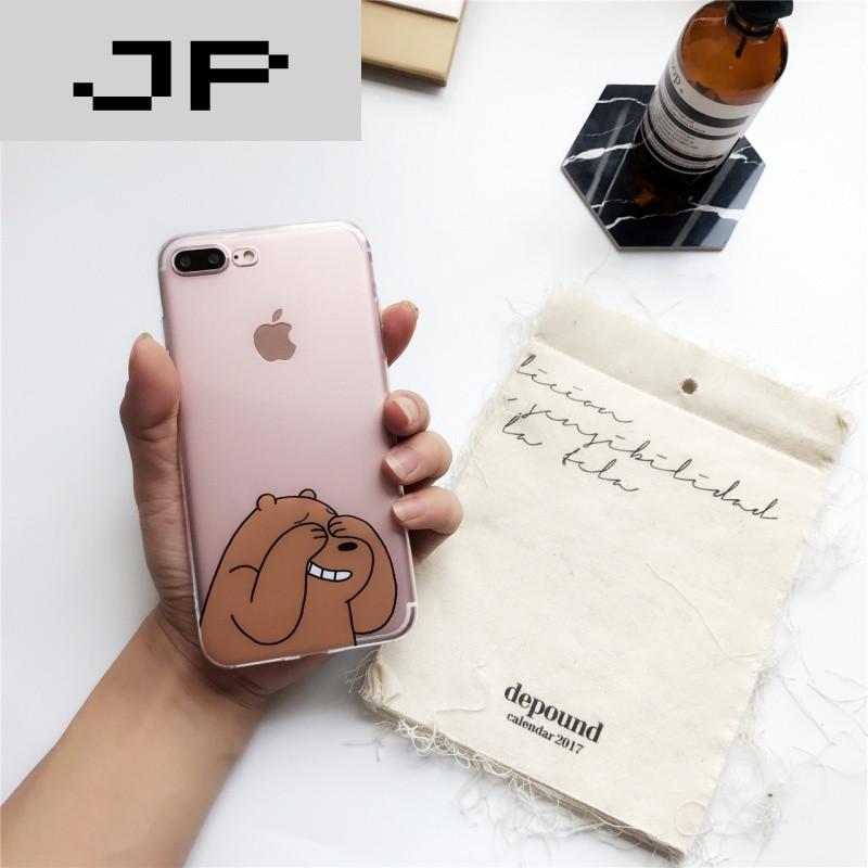 jp潮流品牌可爱卡通熊iphone7/6s/plus手机壳苹果6硅胶软壳创意个性图片