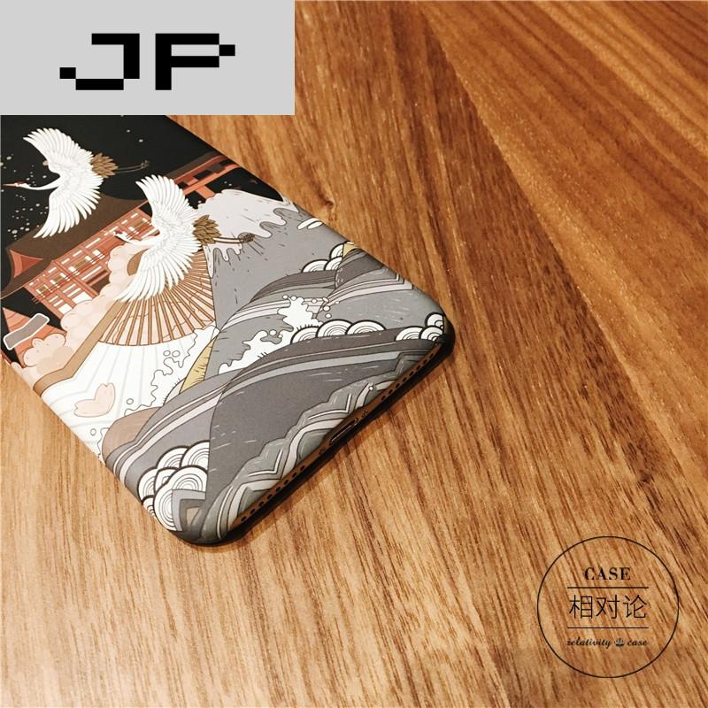 jp潮流品牌日式和风仙鹤手机壳iphone7/6s/plus苹果6创意个性日韩文艺