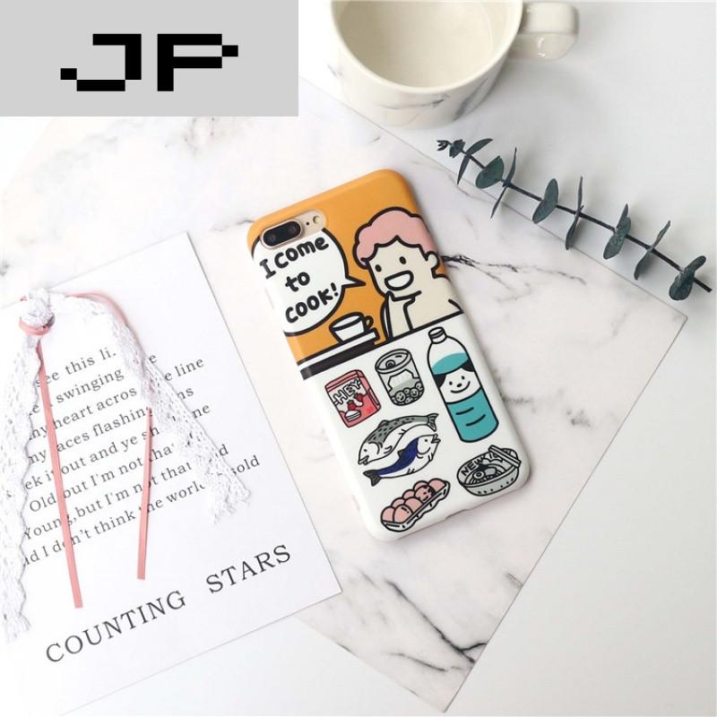 jp潮流品牌韩国可爱卡通吃货小男孩骑木马iphone7手机