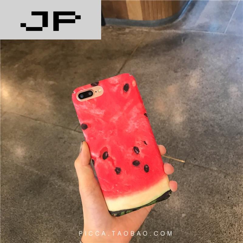jp潮流品牌夏日清新水果西瓜 可爱情侣苹果6/7手机壳超薄iphone7plus
